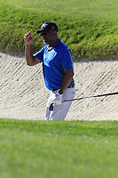 Darius Rucker chips from a bunker at the 3rd green at Spyglass Hill during Thursday's Round 1 of the 2018 AT&amp;T Pebble Beach Pro-Am, held over 3 courses Pebble Beach, Spyglass Hill and Monterey, California, USA. 8th February 2018.<br /> Picture: Eoin Clarke | Golffile<br /> <br /> <br /> All photos usage must carry mandatory copyright credit (&copy; Golffile | Eoin Clarke)
