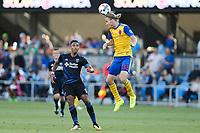 Santa Clara, CA - Saturday, July 29, 2017: San Jose Earthquakes beat Colorado Rapids 1-0 at the Avaya Stadium in Santa Clara.