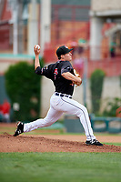 Erie SeaWolves relief pitcher Trent Szkutnik (21) delivers a pitch during a game against the New Hampshire Fisher Cats on June 20, 2018 at UPMC Park in Erie, Pennsylvania.  New Hampshire defeated Erie 10-9.  (Mike Janes/Four Seam Images)