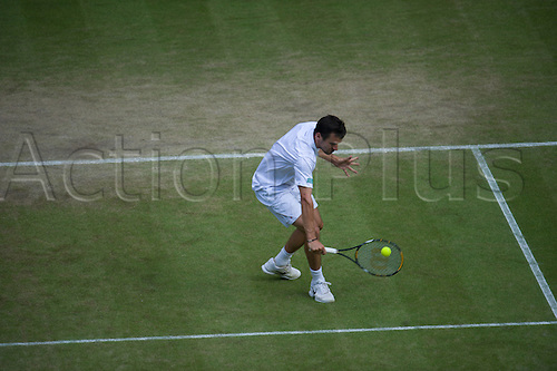 June 26 2010: Rafael Nadal(ESP)[2] def.   Philipp Petzschner(GER)[33] on Centre Court.  Wimbledon international tennis tournament held at the All England Lawn Tennis Club, London, England.