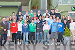 WELCOME: Killarney teenagers welcome students from Charlotte, North Carolina, USA, to Ireland,.when they met at Killarney racecourse last Monday evening.