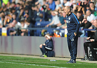 Preston North End manager Alex Neil shouts instructions to his team from the dug-out <br /> <br /> Photographer Kevin Barnes/CameraSport<br /> <br /> The EFL Sky Bet Championship - Preston North End v Sheffield United - Saturday 6th April 2019 - Deepdale Stadium - Preston<br /> <br /> World Copyright © 2019 CameraSport. All rights reserved. 43 Linden Ave. Countesthorpe. Leicester. England. LE8 5PG - Tel: +44 (0) 116 277 4147 - admin@camerasport.com - www.camerasport.com