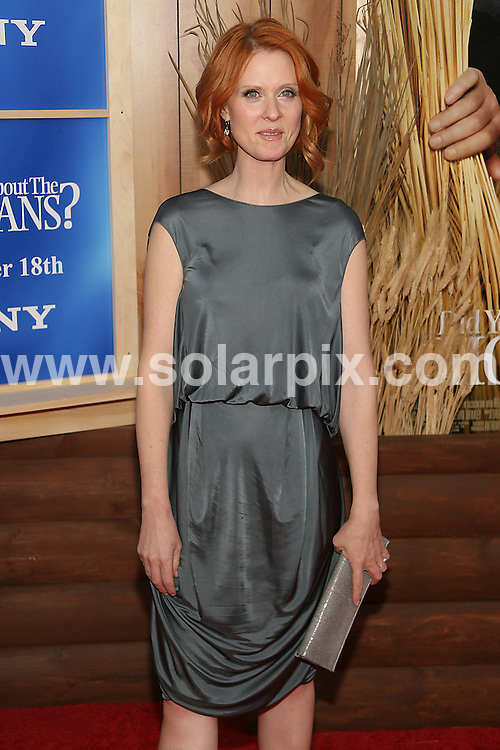 **ALL ROUND PICTURES FROM SOLARPIX.COM**.**SYNDICATION RIGHTS FOR UK, AUSTRALIA, DENMARK, PORTUGAL, S. AFRICA, SPAIN & DUBAI (U.A.E) ONLY**.arrivals for the New York premiere of Did You Hear About the Morgans? New York Premiere at the Ziegfeld Theatre, New York City, NY, USA. 14 December 2009..This pic: Cynthia Nixon..JOB REF: 10404 PHZ PHZ Gaboury   DATE: 14_12_2009.**MUST CREDIT SOLARPIX.COM OR DOUBLE FEE WILL BE CHARGED**.**MUST NOTIFY SOLARPIX OF ONLINE USAGE**.**CALL US ON: +34 952 811 768 or LOW RATE FROM UK 0844 617 7637**