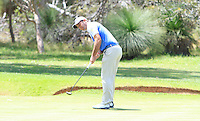 Ricardo Santos (POR) on the 17th during Round 1 of the ISPS HANDA Perth International at the Lake Karrinyup Country Club on Thursday 23rd October 2014.<br /> Picture:  Thos Caffrey / www.golffile.ie