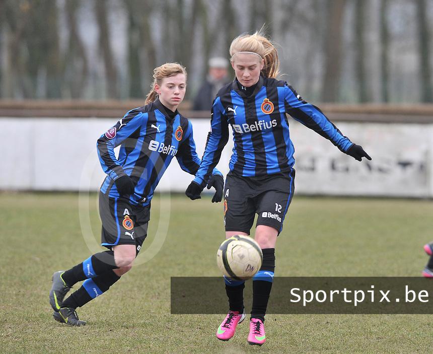 Club Brugge Dames - OHL Oud Heverlee Leuven : Silke Demeyere.foto DAVID CATRY / Vrouwenteam.be