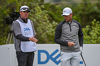 Lucas Bjerregaard (DEN) checks out the wind on the tee on 2 during day 5 of the WGC Dell Match Play, at the Austin Country Club, Austin, Texas, USA. 3/31/2019.<br /> Picture: Golffile | Ken Murray<br /> <br /> <br /> All photo usage must carry mandatory copyright credit (&copy; Golffile | Ken Murray)