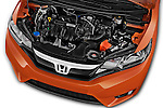Car Stock 2016 Honda Jazz Elegance 5 Door Hatchback Engine  high angle detail view