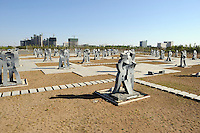"Scuptures named ""Embrace of Love"" in Kangbashi district of the Chinese city of Ordos, Inner Mongolia. 12-May-2011"