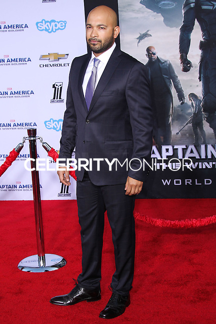 """HOLLYWOOD, LOS ANGELES, CA, USA - MARCH 13: Maximiliano Hernandez at the World Premiere Of Marvel's """"Captain America: The Winter Soldier"""" held at the El Capitan Theatre on March 13, 2014 in Hollywood, Los Angeles, California, United States. (Photo by Xavier Collin/Celebrity Monitor)"""