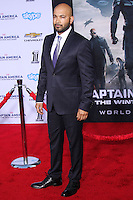 "HOLLYWOOD, LOS ANGELES, CA, USA - MARCH 13: Maximiliano Hernandez at the World Premiere Of Marvel's ""Captain America: The Winter Soldier"" held at the El Capitan Theatre on March 13, 2014 in Hollywood, Los Angeles, California, United States. (Photo by Xavier Collin/Celebrity Monitor)"