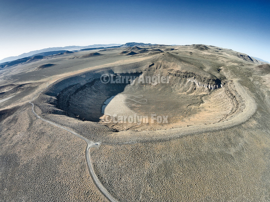 Lunar Crater, Nevada, from a drone.