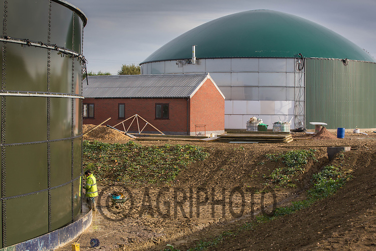 Construction of an Anaerobic Digestion Plant<br /> Picture Tim Scrivener 07850 303986