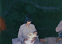 Iraq 1983 .Pakchan Hafid in Toujala with her baby daughter.Irak 1983.Pakchan Hafid, en juin a Toujala, avec sa fille