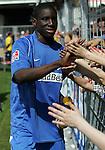 Hoffenheim 27.04.2008, Der dreifache Torsch&uuml;tze Demba Ba (TSG 1899 Hoffenheim) beim Spiel in der 2. Bundesliga von TSG 1899 Hoffenheim - Carl Zeiss Jena<br /> <br /> Foto &copy; Rhein-Neckar-Picture *** Foto ist honorarpflichtig! *** Auf Anfrage in h&ouml;herer Qualit&auml;t/Aufl&ouml;sung. Belegexemplar erbeten.