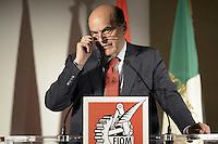 Roma, 9 Giugno 2012.Hotel Parco dei Principi.La Fiom incontra partiti e movimenti politici.Pierluigi Bersani, Partito democratico.