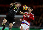 Cesar Azpilicueta of Chelsea tussles with Gaston Ramirez of Middlesbrough during the English Premier League match at the Riverside Stadium, Middlesbrough. Picture date: November 20th, 2016. Pic Simon Bellis/Sportimage