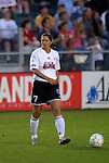 19 June 2003: Carolina Courage forward Danielle Fotopoulos played for the WUSA American Stars. The WUSA World Stars defeated the WUSA American Stars 3-2 in the WUSA All-Star Game held at SAS Stadium in Cary, NC.