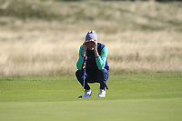 Tiernan McLarnon from Ireland on the 11th fairway during Round 1 Foursomes of the Men's Home Internationals 2018 at Conwy Golf Club, Conwy, Wales on Wednesday 12th September 2018.<br /> Picture: Thos Caffrey / Golffile<br /> <br /> All photo usage must carry mandatory copyright credit (© Golffile | Thos Caffrey)