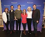 Caroline O'Connor, Ramin Karimloo, Derek Klena, Christy Altomare, Mary Beth Peil and John Bolton attend the ''Anastasia' Cast Photo Call at the New 42nd Street Studios on February 22, 2017 in New York City.