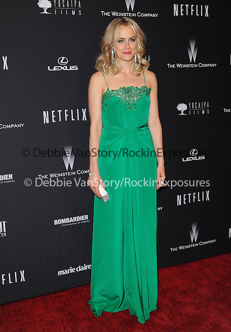 Taylor Schilling<br /> <br /> <br /> <br />  attends THE WEINSTEIN COMPANY & NETFLIX 2014 GOLDEN GLOBES AFTER-PARTY held at The Beverly Hilton Hotel in Beverly Hills, California on January 12,2014                                                                               © 2014 Hollywood Press Agency