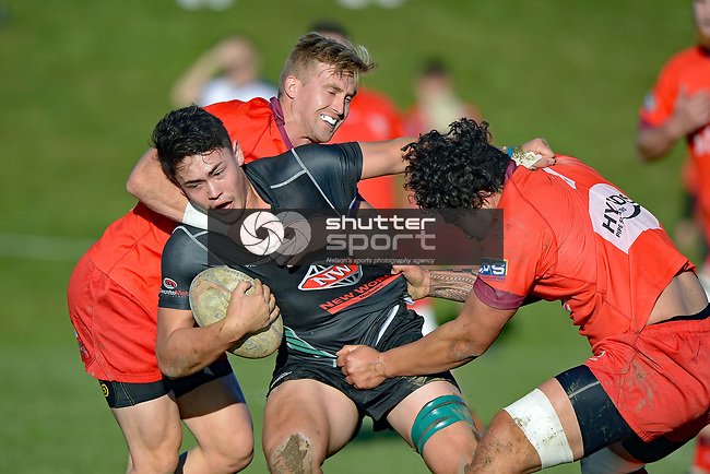 NELSON, NEW ZEALAND - JUNE 17: Stoke Club Day, Stoke Div 1 v Kahurangi Div 1, Nayland College, June 17, 2017, Nelson, New Zealand. (Photo by: Barry Whitnall Shuttersport Limited)