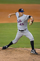 Starting pitcher Jeff Kaplan #45 of the St. Lucie Mets in action versus the Daytona Cubs at Jackie Robinson Stadium June 16, 2009 in Daytona Beach, Florida. (Photo by Brian Westerholt / Four Seam Images)