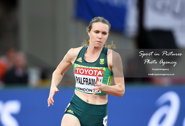 Justine PALFRAMAN (RSA) in the womens 200m heats. IAAF world athletics championships. London Olympic stadium. Queen Elizabeth Olympic park. Stratford. London. UK. 08/08/2017. ~ MANDATORY CREDIT Garry Bowden/SIPPA - NO UNAUTHORISED USE - +44 7837 394578