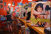 May 29, 2010.  Chapel Hill, North Carolina..Wonder Woman books are for sale at Chapel Hill Comics.