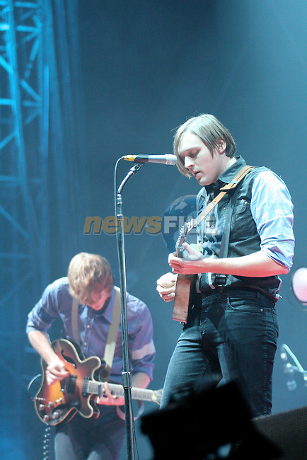 Arcade fire on stage in the Big Top during there two night shows in the Phoenix Park.. Photo: Newsfile/Denise Cleary.