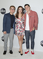 07 August 2018 - Beverly Hills, California - Sean Giambrone, Hayley Orrantia, Sam Lerner. ABC TCA Summer Press Tour 2018 held at The Beverly Hilton Hotel. <br /> CAP/ADM/PMA<br /> &copy;PMA/ADM/Capital Pictures