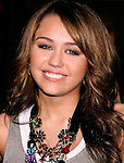 "HOLLYWOOD, CA. - November 17: Actress/Singer Miley Cyrus  arrives at the World Premiere of Walt Disney's ""Bolt"" at the El Capitan Theatre on November 17, 2008 in Hollywood California."