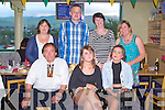 NIGHT OUT: The student of Healthcare Support, Creative Training, Tralee enjoying a night out at the Kingdom Greyhound Stadium on Saturday seated l-r: Eddie Jennings, Aine McGillcuddy and Roseanne Leen. Back l-r: Angela Lyne, Peter Nammock, Sandra Collins and Virgina Mannong.