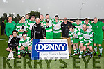 Champions<br /> ----------------<br /> The rain last Sunday didn't dampen the celebrations for Killarney Celtic who defeated Castleisland B,  3-0 at Mounthawk Park, Tralee in the replay of the Greyhound bar, Tralee, sponsored KO cup.