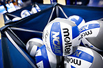 PENSACOLA, FL - DECEMBER 09: Official match balls sit in a basket during the Division II Women's Volleyball Championship held at UWF Field House on December 9, 2017 in Pensacola, Florida. (Photo by Timothy Nwachukwu/NCAA Photos via Getty Images)