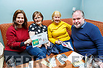 Sharon Walsh, Lena Lynch, Pat Turner and James Finnegan enjoying the Tralee Musical Society Quiz in Na Gaeil on Friday night.