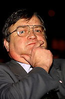 Jean Garon<br />  at the Salon du Livre 1995.<br /> <br /> He just died , July 2nd 2014 at age 76.<br /> <br />  File Photo : Agence Quebec Presse  - Pierre Roussel
