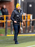 9th February 2020; Indodrill Stadium Alloa, Alloa Clackmannashire, Scotland; Scottish Cup Football, BSC Glasgow versus Hibernian; Stephen Swift manager of BSC Glasgow FC watches anxiously