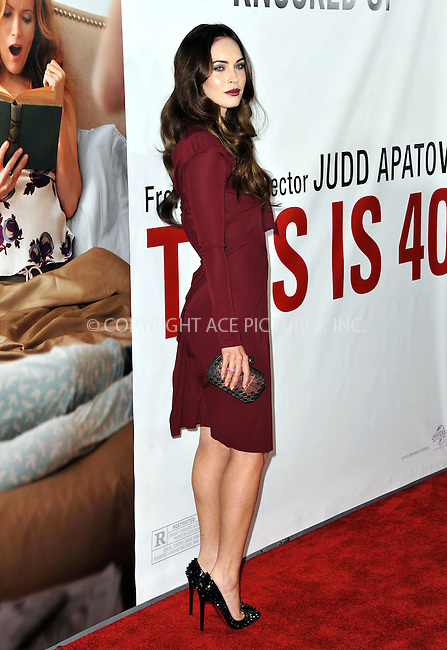 WWW.ACEPIXS.COM....December 12 2012, LA....Actress Megan Fox arriving at the'This Is 40' premiere at Grauman's Chinese Theatre on December 12, 2012 in Hollywood, California. ....By Line: Peter West/ACE Pictures......ACE Pictures, Inc...tel: 646 769 0430..Email: info@acepixs.com..www.acepixs.com