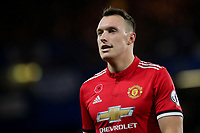 Phil Jones of Manchester United during Chelsea vs Manchester United, Premier League Football at Stamford Bridge on 5th November 2017