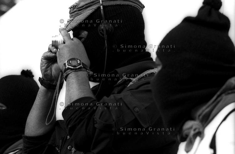 Messico 2006 Gennaio 2006<br /> ll Subcomandante  Marcos, leader dell'Esercito  Zapaltista di Liberazione Nazionale durante l'Altra Cmpagna. a San Cristobal de las Casa.<br /> ll Subcomandante Marcos, leader of the Zapatista Army of National Liberation.