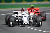 24th March 2018, Melbourne Grand Prix Circuit, Melbourne, Australia; Melbourne Formula One Grand Prix, qualifying; Marcus Ericsson of Sweden driving the (9) Alfa Romeo Sauber F1 Team C37 Ferrari