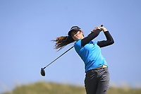 Caley McGinty (ENG) on the 9th tee during Round 3 of the Irish Women's Open Stroke Play Championship 2018 on Saturday 13th May 2018.<br /> Picture:  Thos Caffrey / Golffile<br /> <br /> All photo usage must carry mandatory copyright credit (&copy; Golffile | Thos Caffrey)