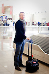 Vincent Gesquiere poses for a portrait in Hartsfield-Jackson Atlanta International Airport in Atlanta, Georgia after a flight from Brussels January 6, 2009.