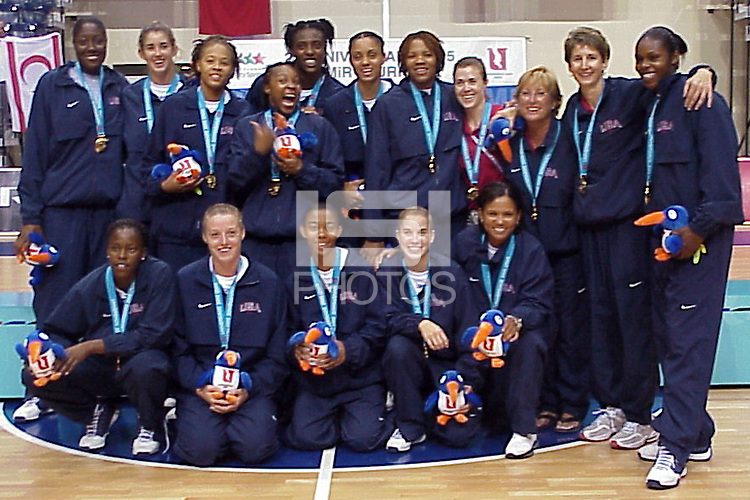 17 August 2005: Brooke Smith at the World University games after the USA National team defeated Russia 188-67 in Izmir, Turkey.