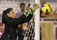 BOCA RATON, FL - DECEMBER 15, 2012: Hope Solo (1) of the USA WNT during an international friendly match against China at FAU Stadium, in Boca Raton, Florida, on Saturday, December 15, 2012. USA won 4-1.