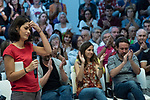 Pablo Iglesias, secretary general of Podemos;  Ione Belarra, deputy spokesperson for United We can; Rafa Mayoral, secretary of Civil Society and Popular Movement of Podemos and Isa Serra, spokesperson for United Podemos in the Madrid Assembly; in a meeting of Podemos with people in Madrid where they exchange points of view, listen to concerns and draw shared horizons.<br /> October 5, 2019. <br /> (ALTERPHOTOS/David Jar)