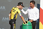Primoz Roglic (SLO) Team Jumbo-Visma annihilates the field to win Stage 10 of La Vuelta 2019 an individual time trial running 36.2km from Jurancon to Pau, France. 3rd September 2019.<br /> Picture: Luis Angel Gomez/Photogomezsport | Cyclefile<br /> <br /> All photos usage must carry mandatory copyright credit (© Cyclefile | Luis Angel Gomez/Photogomezsport)