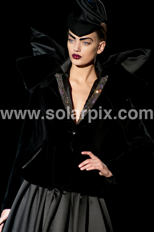 **ALL ROUND PICTURES FROM SOLARPIX.COM**                                             **WORLDWIDE SYNDICATION RIGHTS EXCEPT SPAIN - NO SYNDICATION IN SPAIN**                                                                                  Caption: Models on the Runway shows at The Mercedes Benz Fashion week in Madrid Spain                                                             This pic:  Maya Hansen  collection Show                                                                                            JOB REF: 14425     DMS/Espinola    .DATE: 04.02.2012                                                           **MUST CREDIT SOLARPIX.COM OR DOUBLE FEE WILL BE CHARGED**                                                                      **MUST AGREE FEE BEFORE ONLINE USAGE**                               **CALL US ON: +34 952 811 768 or LOW RATE FROM UK 0844 617 7637**