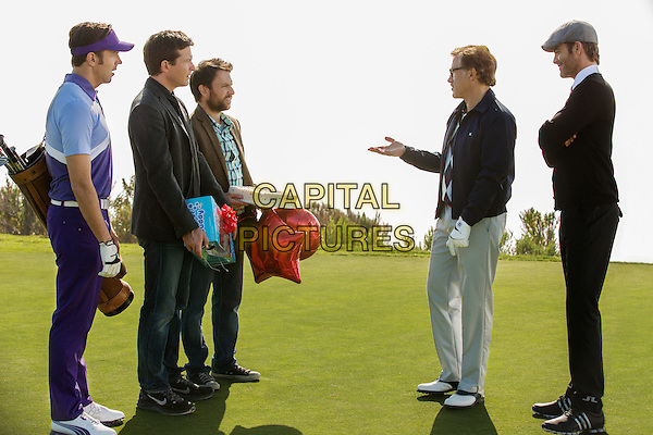 Jason Sudeikis, Jason Bateman, Charlie Day, Christoph Waltz, Chris Pine<br /> in Horrible Bosses 2 (2014) <br /> *Filmstill - Editorial Use Only*<br /> CAP/NFS<br /> Image supplied by Capital Pictures