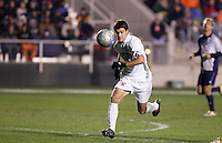 Maryland's Graham Zusi chases the ball. The University of Maryland Terrapins defeated the Southern Methodist University Mustangs 4-1 in a Men's College Cup Semifinal at SAS Stadium in Cary, NC, Friday, December 9, 2005.